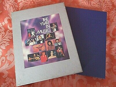 Music Year Book In 1978 Vintage Illustrated Hardback With Slipcase • 3£