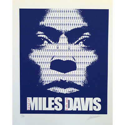 Mile Davis Poster - Fine Art Limited Edition Signed And Numbered By Designer • 75£