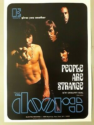 The Doors Poster - People Are Strange Elektra Records 1969 New Reprinted Edition • 4.50£
