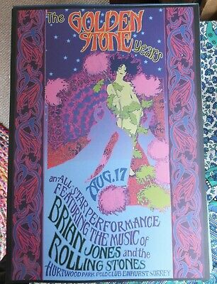BRIAN JONES  ROLLING STONES  GOLDEN STONE YEARS - RARE POSTER Mint Condition • 22.99£