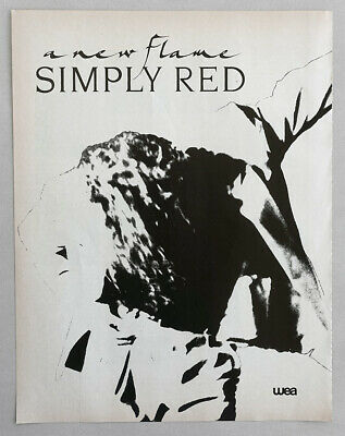 Simply Red A New Flame 1989 Album Release Full Page Greek Print Ad Its Only Love • 4.99£