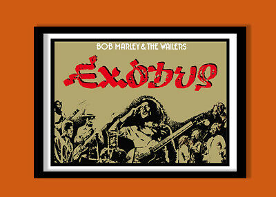 Bob Marley Poster  Exodus Promo Poster  Large A2 ( 60x40cm / 24 X 16.5 Inches) C • 17.50£