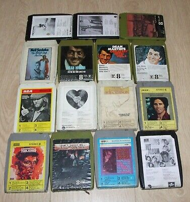 JOB LOT OF 15 X VARIOUS 8 TRACK TAPES • 10.99£