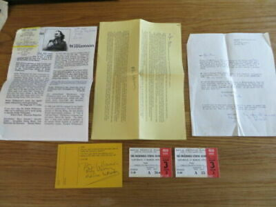 Incredible String Band Memorabilia Letters Scientology Tickets Signed • 40£