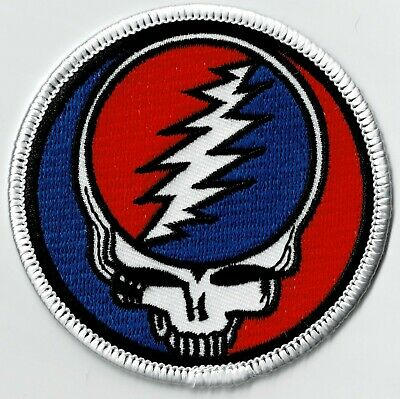 GRATEFUL DEAD - STEAL YOUR FACE - IRON Or SEW-ON PATCH • 4.26£
