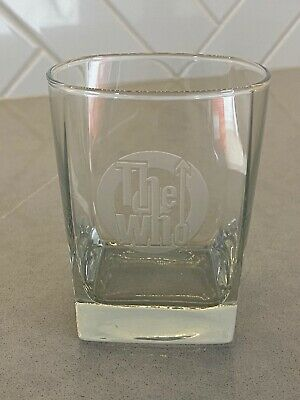 THE WHO Band Square Double Old Fashioned Glasses DOF Set Of 2 Etched NEW Rock • 30.01£
