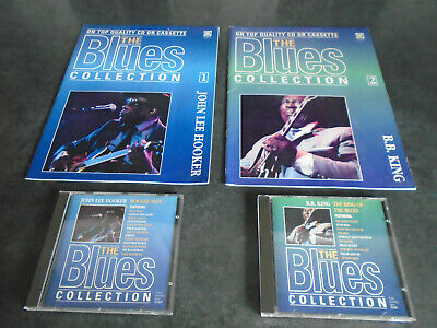 FIRST 2 ISSUES OF  THE BLUES COLLECTION  COMPLETE WITH 2 UNPLAYED C.D.s. V.G.C. • 3.49£