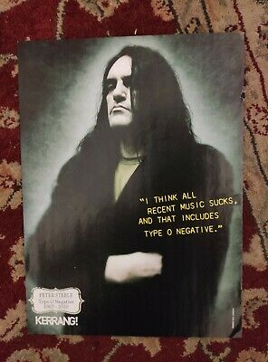 Peter Steele (Type O Negative) Poster RARE (Deftones/Avenged Sevenfold) • 10£