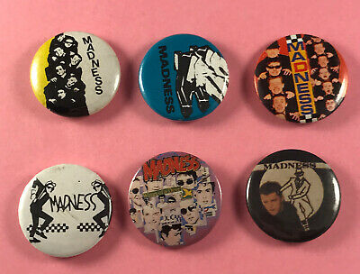 6x Different Madness Pin Badges - Ska Music • 5.99£