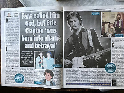 Eric Clapton Cuttings/clippings Uk Papers 2020 Daily Express New Book - Slowhand • 6.99£