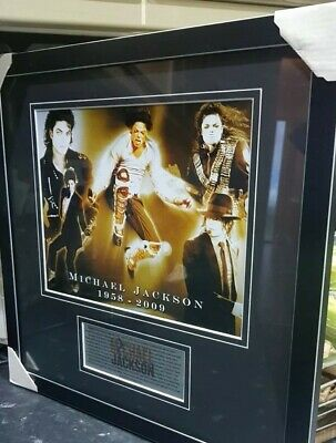 Michael Jackson Framed Photo Brand New, Stunning. Won In Competition , Unwanted. • 18£