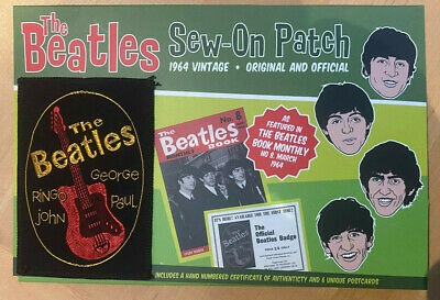 THE BEATLES Original 1963 Fan Club Patch Limited Rare And Collectable. Pristine • 14.50£