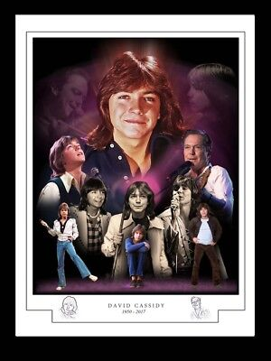 David Cassidy -1950 - 20017 -montage Print A3 • 13£