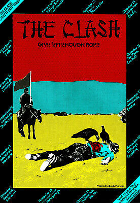 CLASH POSTER. GIVE 'EM ENOUGH ROPE. NrA3 Repro. Punk. • 5.99£