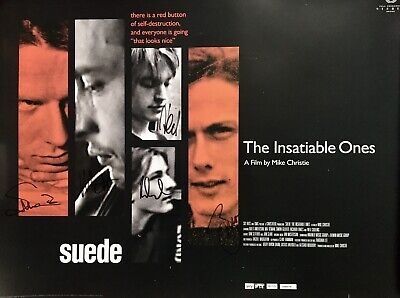 SUEDE :: Insatiable Ones . Film Poster . Fully Signed • 13£