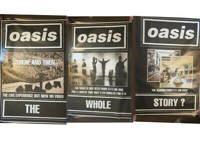OASIS-RARE ORIGINAL PROMO POSTERS SET OF 3 5FT BY 3.4FT FROM THE 90s UK POST  • 55£