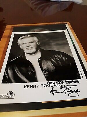 Kenny Rogers GENUINE Signed Photo • 15£