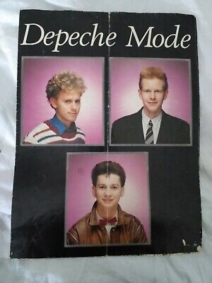 DEPECHE MODE '1982' RARE Tour Postergramme  (British February 1982 Postergramme) • 5.50£