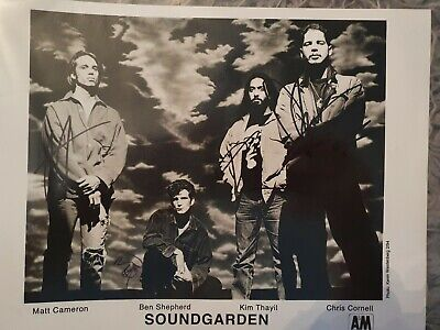 Soundgarden Signed Picture • 104.99£