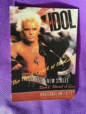 Vintage BILLY IDOL Don't Need A Gun POSTCARD - Underground LE 326 • 1.99£