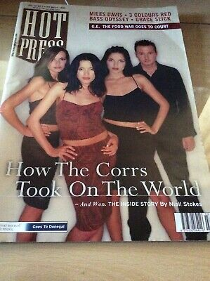 The Corrs - 19th March 1999 Irish Only 'hot Press' Large Magazine, Cover And 31/ • 19.99£
