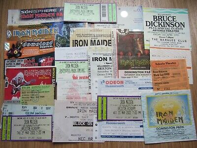 25 Used Iron Maiden Tickets From 1986 To 2011 • 26£