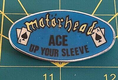 Original Motorhead Ace Up Your Sleeve Tour Metal Pin Badge Vintage 1980s • 51£