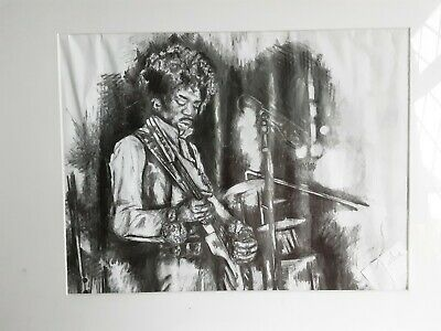 Jimi Hendrix Large Framed And Glazed Looks Like Pen/ink Charcoal?picture  • 59.99£