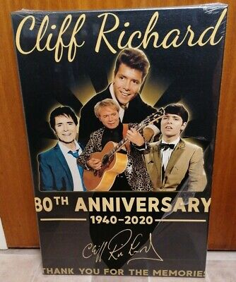 Cliff Richard 80th Anniversary Limited Edition Canvas Print, New! • 39.99£