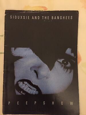 RARE, SIOUXSIE & THE BANSHEES 1988 PEEPSHOW Tour Concert Program.  NEAT PROGRAM. • 10£