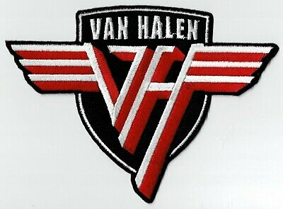 VAN HALEN - SHIELD LOGO - OFFICIALLY LICENSED - IRON ON Or SEW ON PATCH • 6.55£