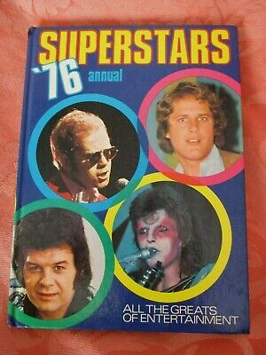 The Superstars Annual 1976 - Illustrated Hardback Rock Music Book  • 2.50£