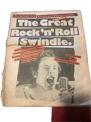 The Sex Pistols  The Great Rock 'N' Roll Swindle Rare Promo News Paper  • 19.99£