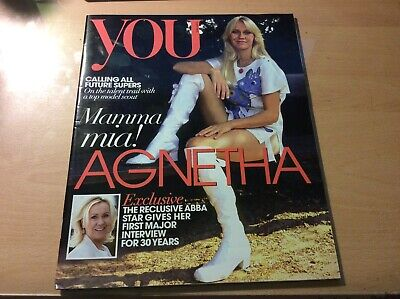 Abba - May 2013 Uk 'you' Magazine With Agnetha Cover And 6 Pages - • 6.99£