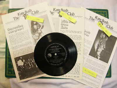 Vintage Original, Kate Bush Fan Club Mags Year 1980 (Newsletter Issues: 5 To 7) • 60£