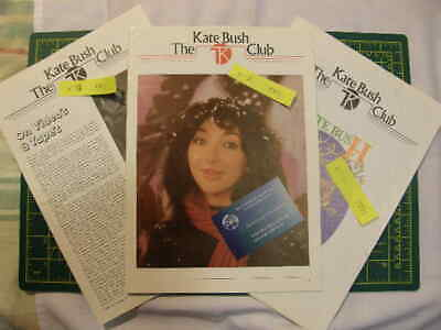 Vintage Original, Kate Bush Fan Club Mags Year 1981 (Newsletter Issues: 8 To 10) • 60£