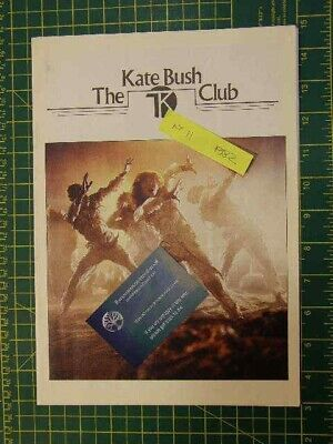 Vintage Original, Kate Bush Fan Club Mags Year 1982 (Newsletter Issue: 11) • 25£