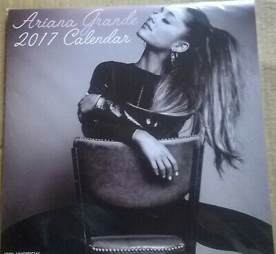 ARIANA GRANDE 2017 30cm Square Wall Calendar With Poster (New, Sealed) • 17.99£