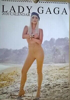 LADY GAGA 2020 A3 Wall Calendar (New/Sealed) • 19.99£