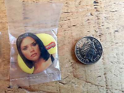 5 Spice Girls Pin Badges. Very Rare. Sealed. Baby Spice, Beckham. Collectable • 22£