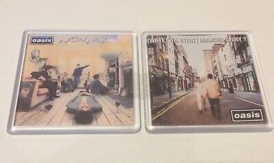 OASIS WHAT THE STORY DEFINITELY MAYBE CD COVER  COASTER SET Xmas Git Idea • 5.99£