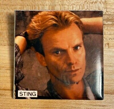 1980s Sting Concert Pin • 1.42£