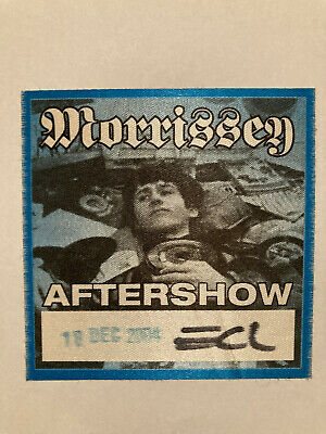 Ticket And Aftershow Pass Morrissey Earls Colondon December 2004 • 2£