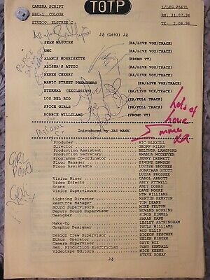 Spice Girls Top Of The Pops Autographed Script • 849.99£