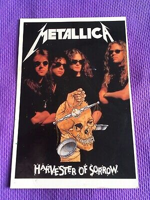 Vintage METALLICA Harvester Of Sorrow POSTCARD 1989 - X107 -World Postcards Inc • 2.99£