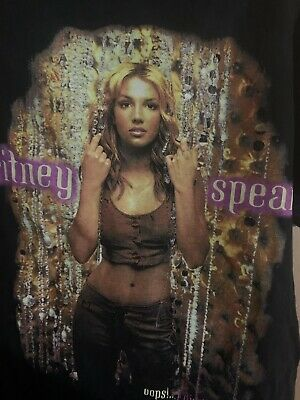 Britney Spears Tour Shirt Original Oops I Did It Again  Size Small Vintage • 357.63£