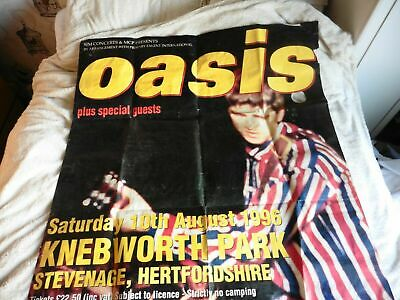 Original Giant Oasis At Knebworth 1996 Poster + T-Shirt • 180£