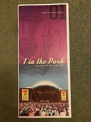T In The Park 2001 Programme • 5£