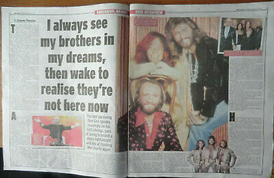 Barry Gibb The Bee Gees Cuttings/clippings Uk Newspapers 2021 • 4.99£