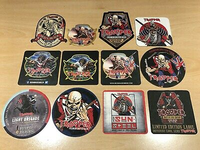 IRON MAIDEN - TROOPER ROBINSON BEER LIMITED EDITION BEER MAT SET X12 - VERY RARE • 5.25£
